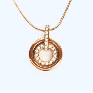 Swarovski Gold-plated Circle Pendant Necklace